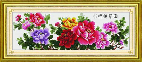 Tranh hoa mẫu đơn là lời chúc cho gia chủ giàu có, cuộc sống hạnh phúc, đầm ấm
