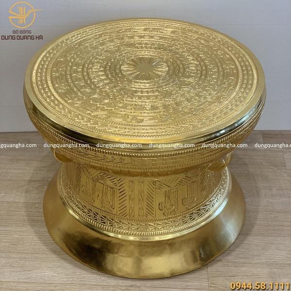 Quả trống đồng Ngọc Lũ dát vàng 9999