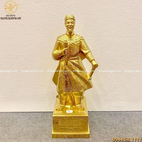 Tượng đồng thếp vàng 9999 Đức Thánh Trần Hưng Đạo