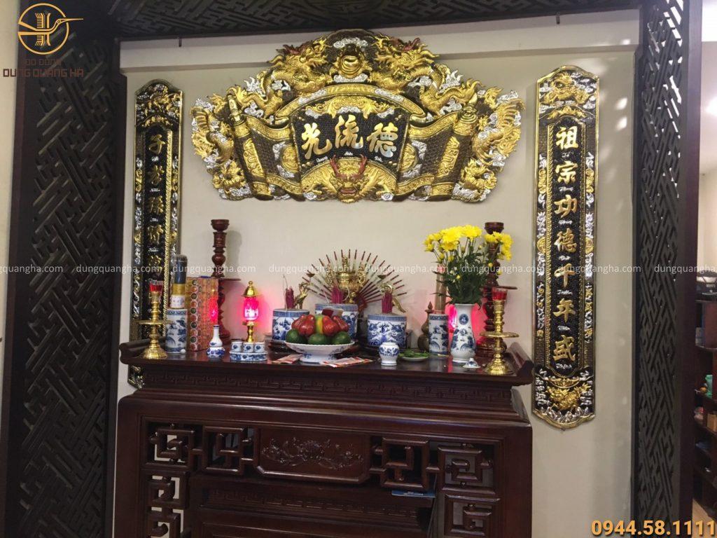 Hoành phi câu đối treo tại nhà khách hàng ở Linh Đàm, Hà Nội