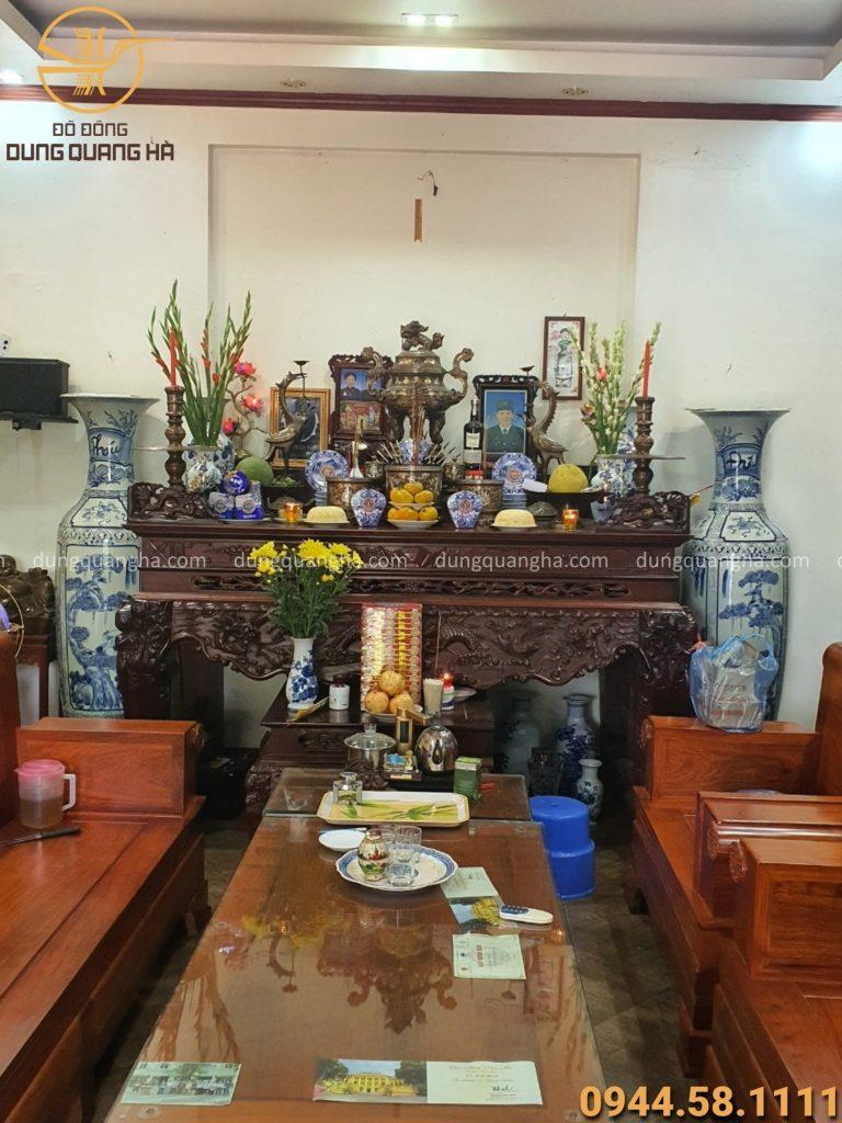 Cách đặt bát hương đồng trên bàn thờ gia tiên