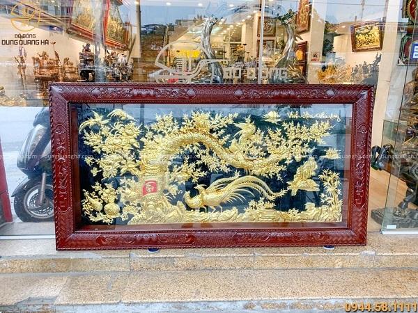 Tranh vinh hoa phú quý 2m3 mạ vàng 24k là món quà lưu niệm cao cấp độc đáo