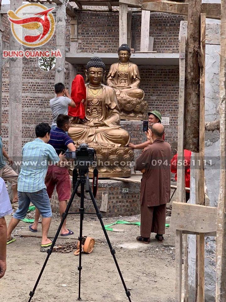 Thăm quan xưởng đúc tượng Phật đồng Ý Yên - Nam Định