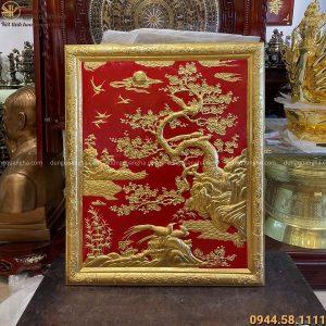 Tranh Vinh Hoa phong thủy thếp vàng kích thước 1m07 x 88 cm