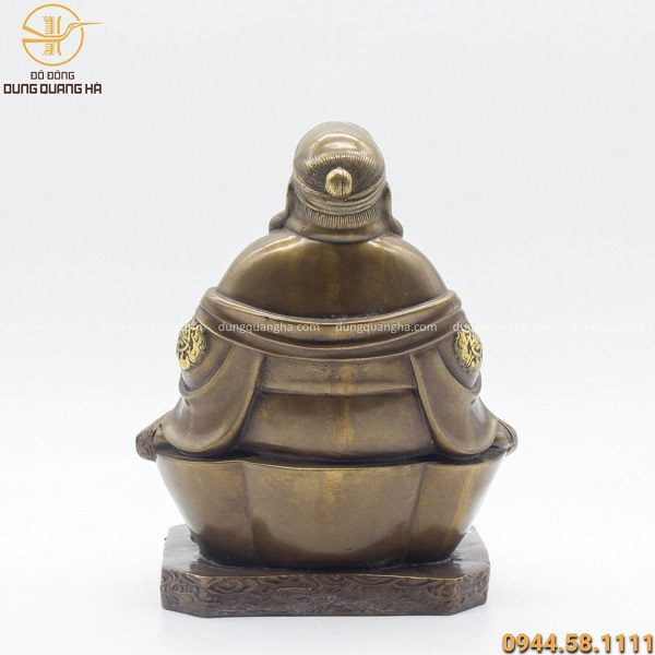 Tượng thờ Thổ Địa bằng đồng vàng hun 25 x 17cm độc đáo