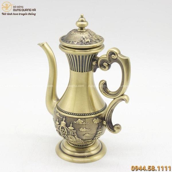Ấm trà bằng đồng thiết kế độc đáo - Quà tặng ý nghĩa