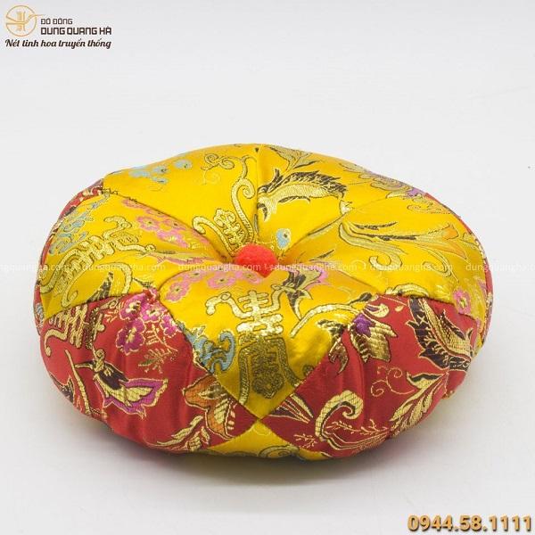 Chuông bát đồng- chuông gia trì hoa sen bằng đồng vàng mộc