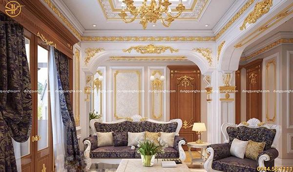 Dát vàng nội thất cho căn biệt thự sang trọng, đẳng cấp