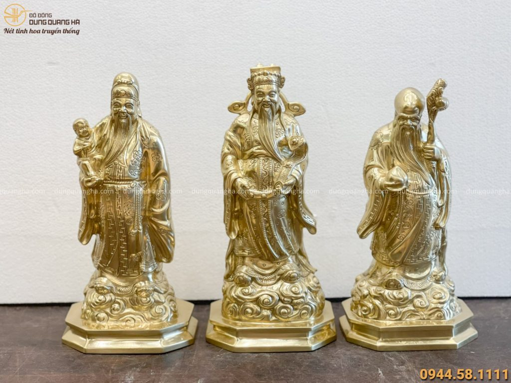 Bộ 3 Phúc Lộc Thọ Bằng Đồng
