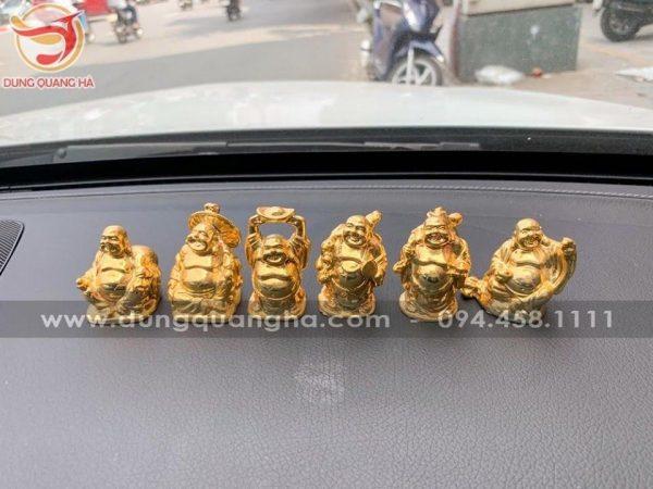Bộ 6 tượng Phât di lặc mạ vàng để xe ô tô