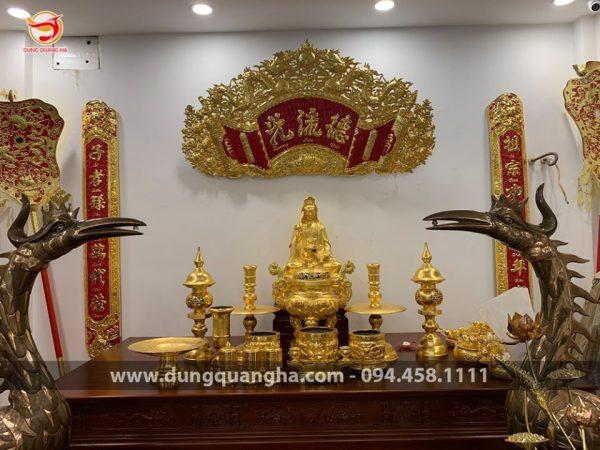 Bộ đồ thờ cúng đầy đủ cho bàn thờ gia tiên