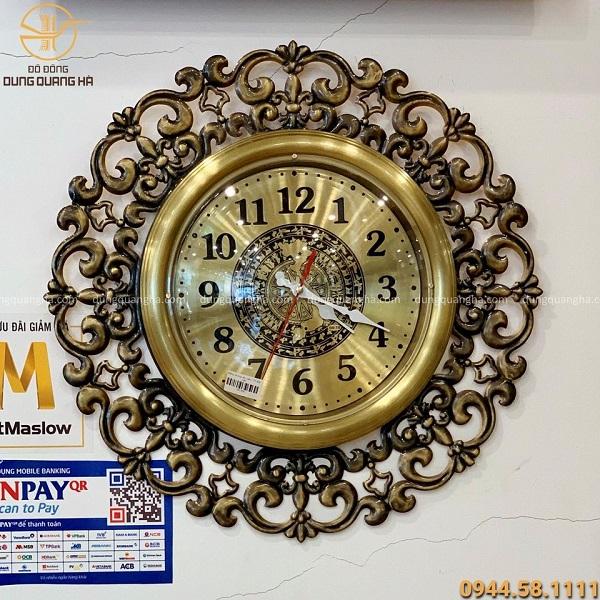 Đồng hồ treo tường bằng đồng làm quà tặng