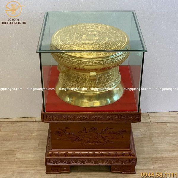 Trồng đồng lưu niệm dát vàng 9999 đúc thủ công