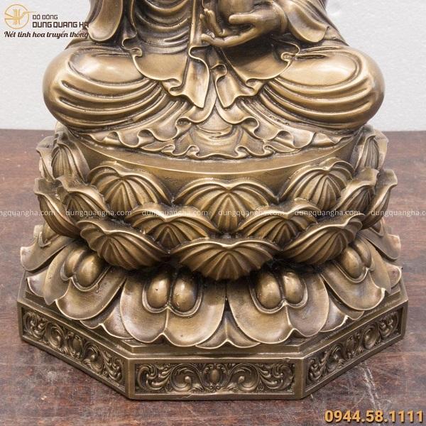 Tượng Đại Thế Chí Bồ Tát giả cổ đế bát giác 40x24cm nặng 8kg