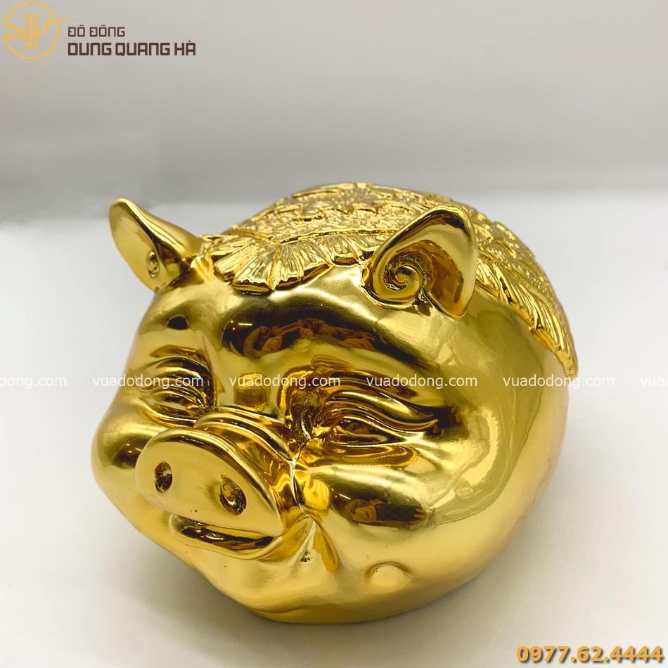 Tượng Heo Mạ Vàng 24k Thiết Kế Độc Đáo