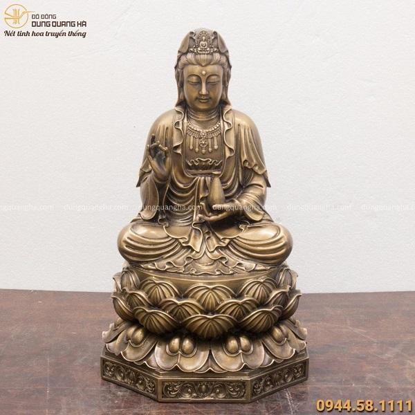Tượng Phật Bà Quan Âm đẹp nhất bằng đồng hun giả cổ
