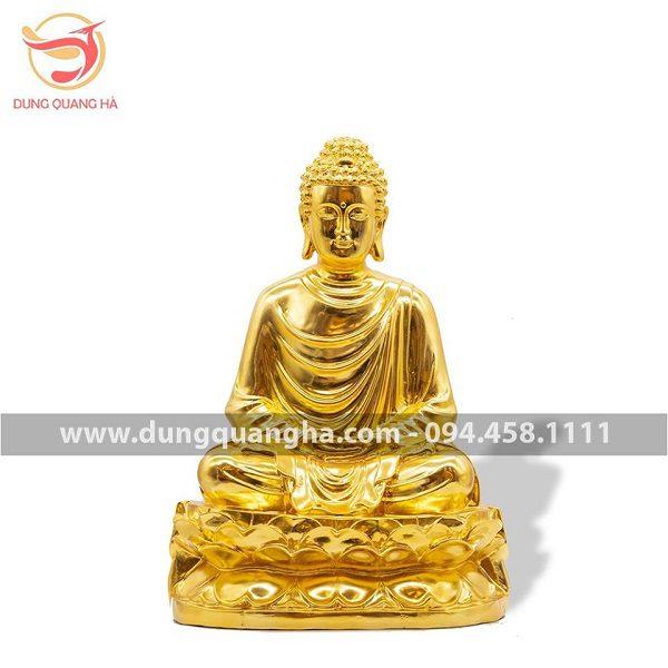Tượng Phật Thích Ca Mâu Ni bằng đồng mạ vàng 24k