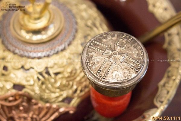 Điếu cày Chivas bọc đồng đường kính 20cm độc đáo tinh xảo