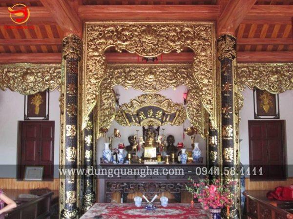 Mẫu cửa võng bằng đồng sơn son thếp vàng 9999