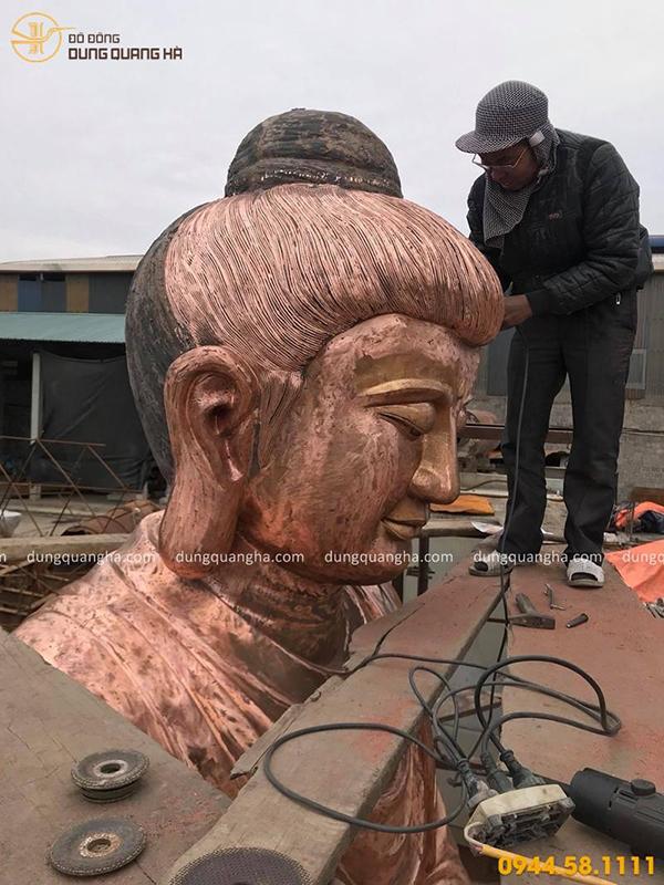 Đúc tượng Phật bằng đồng