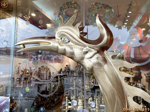 Đôi hạc thờ cỡ lớn bằng đồng catut 1m92 trang nghiêm tinh xảo