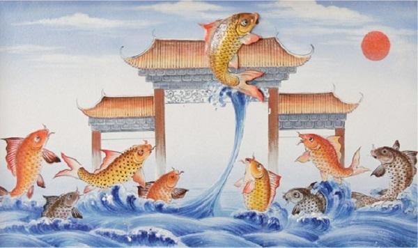 tượng cá chép vượt vũ môn