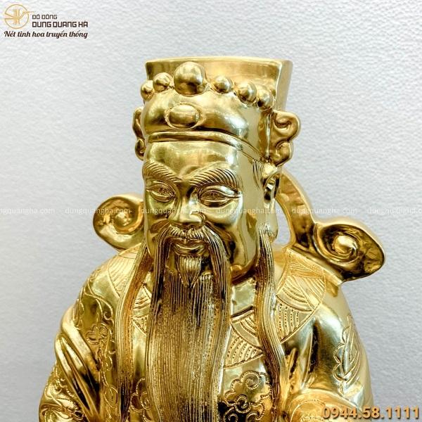 Bộ tượng Tam Đa Phúc Lộc Thọ bằng đồng dát vàng tinh xảo