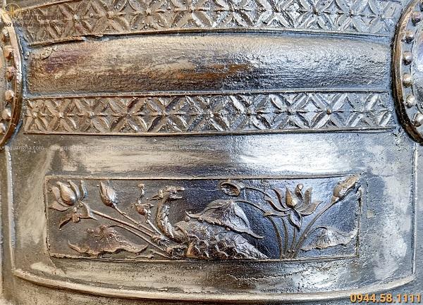 Chuông đồng cổ kính hoa văn tinh xảo bằng đồng độc đáo