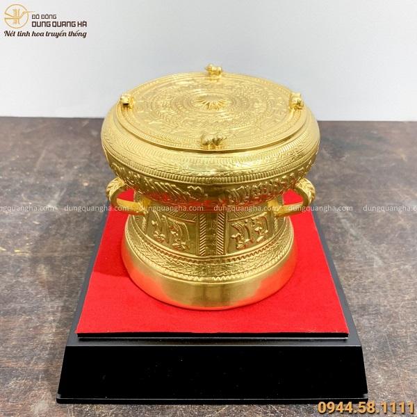 Quả trống đồng Ngọc Lũ bằng đồng dát vàng tinh tế sang trọng
