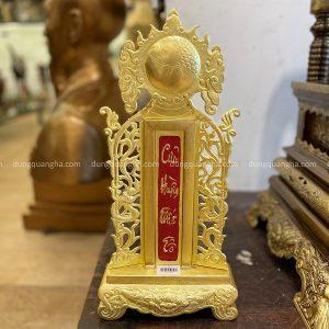 Bài vị thờ cúng cửu huyền thất tổ bằng đồng vàng 43x21cm