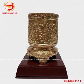 Bát hương Thần Tài bằng đồng đường kính 11cm