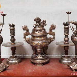Bộ đỉnh đồng thờ cúng khảm ngũ sắc cao 60cm_5dda2468049bb.jpeg