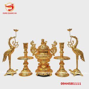 Bộ đồ thờ cúng bằng đồng thếp vàng 9999 giá rẻ_5dda24381bf56.jpeg