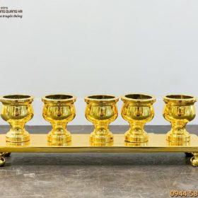 Bộ ngai chén thờ bằng đồng mạ vàng 24k độc đáo trang nghiêm