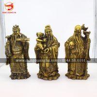 Bộ tượng Tam Đa Phúc Lộc Thọ bằng đồng đẹp tinh xảo