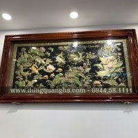 Bức tranh Cửu Ngư Quần Hội kích thước 1m7x90