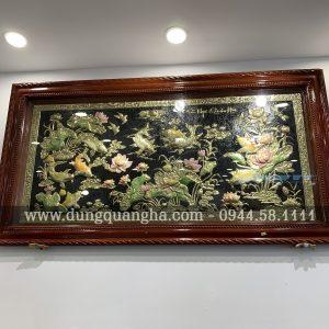 Bức tranh đồng Cửu Ngư Quần Hội kích thước 1m7x90