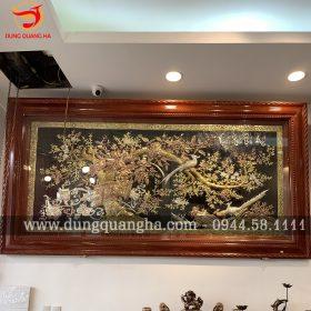 Bức tranh Vinh Hoa Phú Quý chạm tam khí sắc nét