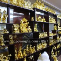 Các sản phẩm Đồ Đồng mạ vàng tại cơ sở Dung Quang Hà