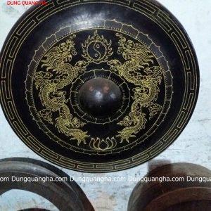 Chiêng đồng cổ kính rồng chầu mặt nguyệt