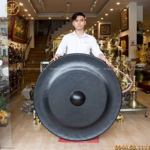 Chiêng đồng đúc đường kính 1m1 nặng 66kg độc đáo