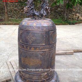 Chuông đồng cổ kính giao tại chùa 250kg