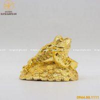 Cóc ngậm tiền mạ vàng 24k - linh vật phong thủy cao cấp