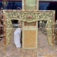 Cửa võng thờ bằng đồng cao 1m65 dài 2m05