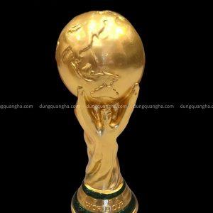 Cúp đồng FIFA World Cup thếp vàng 9999 cao 36,5 cm tinh xảo