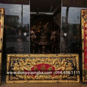 Đại tự và câu đối Đức Lưu Quang 1m55 mạ vàng