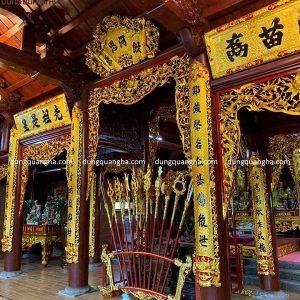 Dát vàng đồ thờ bằng gỗ các loại linh thiêng tinh xảo