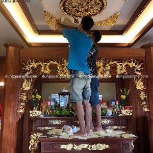 Dát vàng lên gỗ, sập thờ gỗ và cửa võng tại Hải Phòng