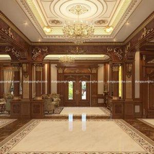 Dát vàng lên gỗ trang trí kiến trúc nội thất, nhà cửa