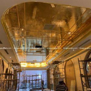 Dát vàng thạch cao lên tường, trần nhà độc đáo ấn tượng